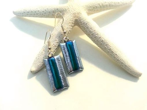 Custom Made Dichroic Glass Earrings