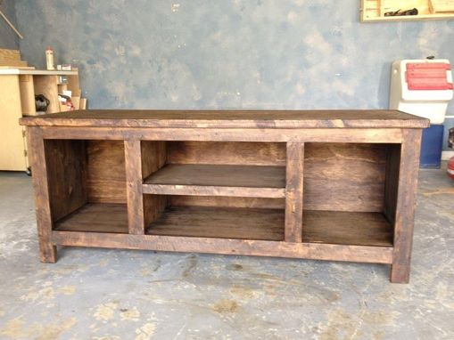 Custom Made Distressed Entertainment Center