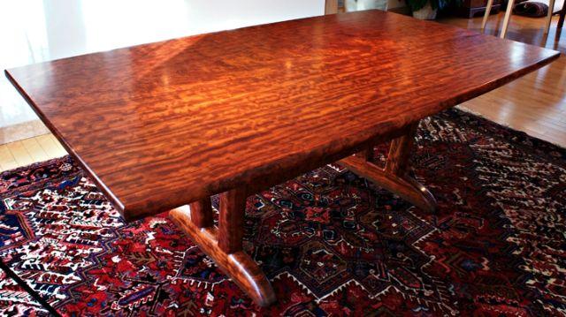 Handmade Bubinga Dining Table By Garybd Woodworking