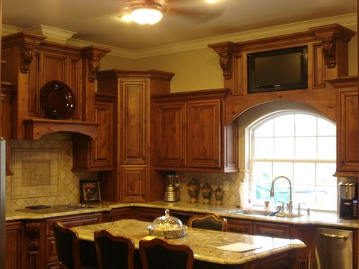 Custom Made Knotty Alder Stepped Kitchen