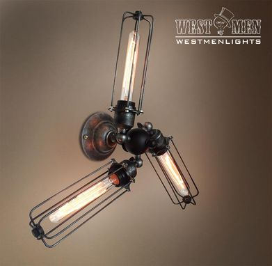 Custom Made Westmenlights Retro Adjustable Wrought Iron Wall Sconce Light Black Lamp Shade