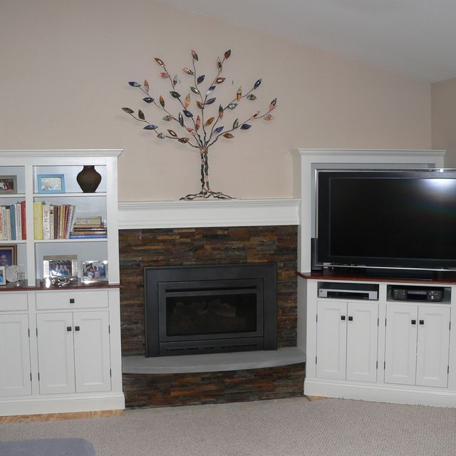 Custom Made Cabinets Around Fireplace By Meisterbuilders Inc