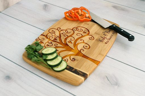 Custom Made Personalized Cutting Board, Engraved Cutting Board, Custom Wedding Gift – Cb-Bamm-Andy Pam