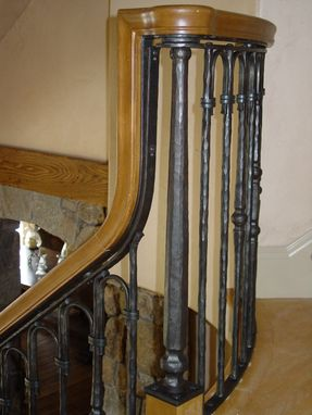 Custom Made Wrought Iron Stair And Bridge Railing