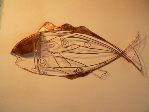 Custom Made Copper  Sculpture Metel Abstract