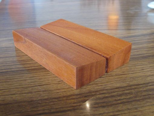 Custom Made Geometric Teak Soap Dish