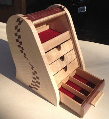 Custom Made Tambour Topped Jewelry Box