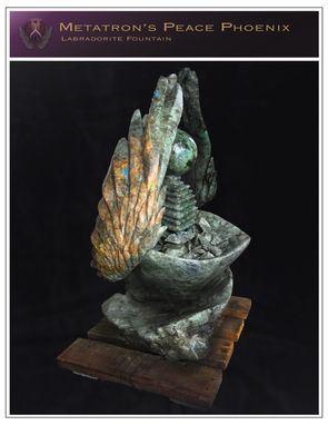 Custom Made Metatron's Peace Phoenix Labradorite Fountain