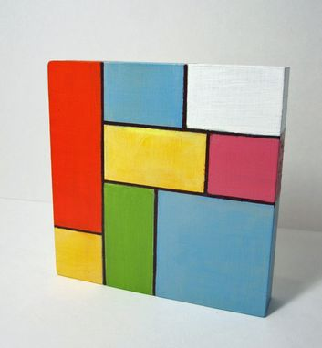 Custom Made Hand Painted Modern Art Blocks Set