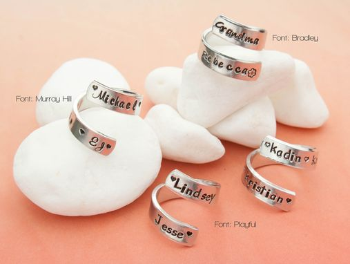 Custom Made Custom Personalized Wrap Ring, Aluminum