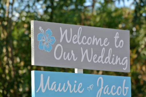 Custom Made Wedding Welcome Sign, Best Day Ever Directional Sign