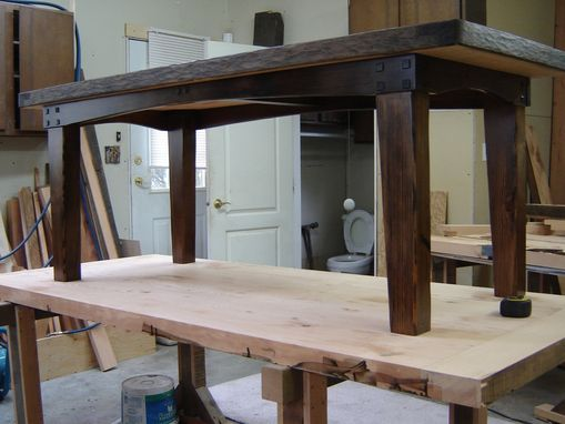Custom Made Reclaimed Douglas Fir Dinning Table