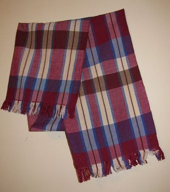 Custom Made Plaid Wool And Silk Scarf
