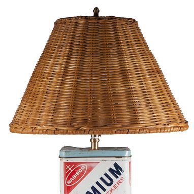 Custom Made Vintage Nabisco Cracker Tin Upcycled Table Lamp