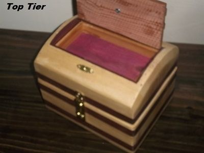 Custom Made 3 Tier Jewelry Box