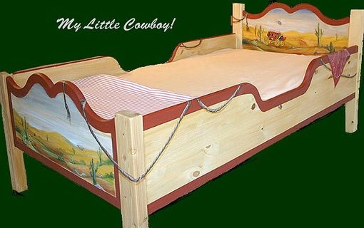 Custom Made Hand Painted Toddler Bed