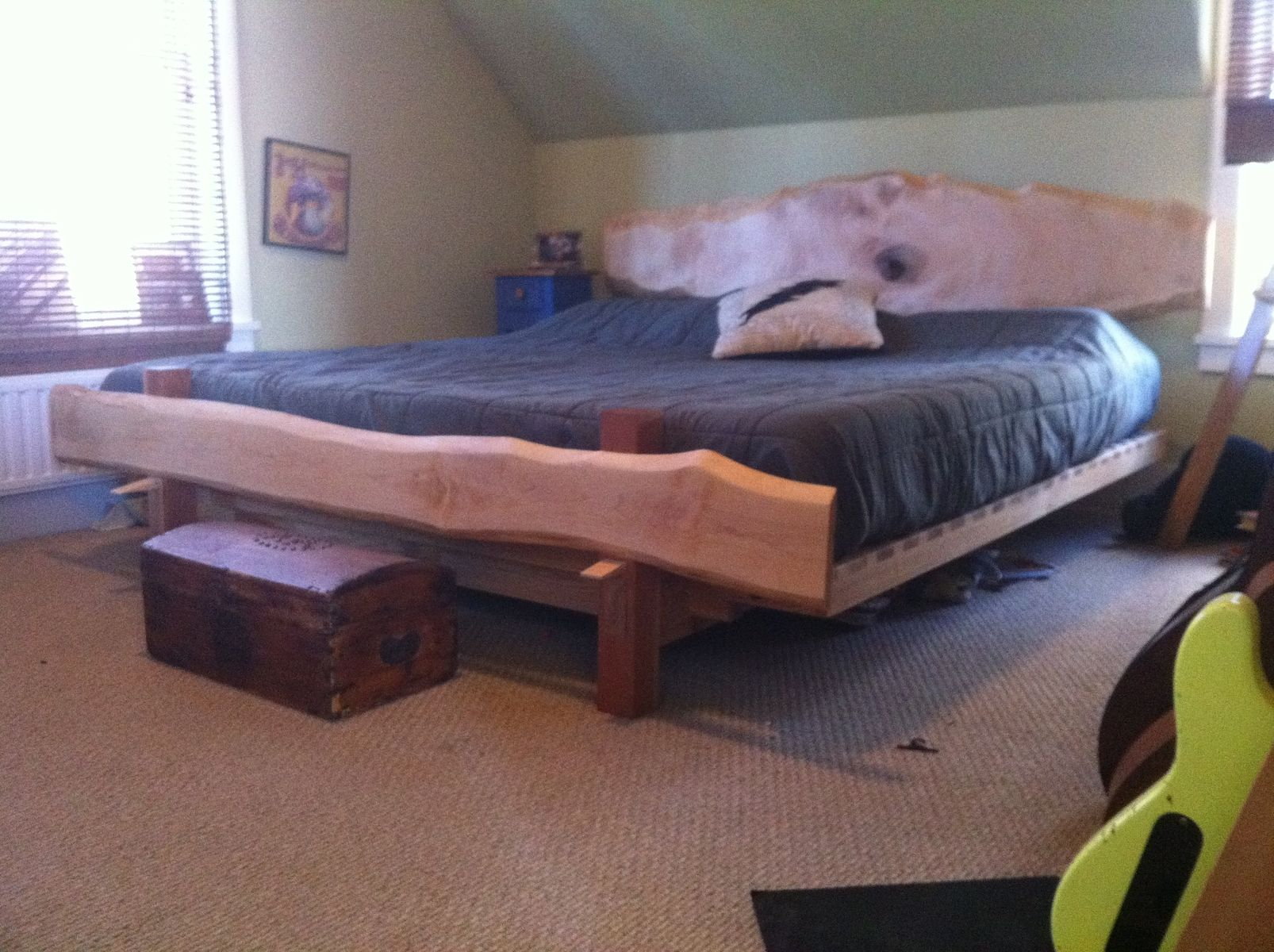 Custom Live Edge Platform Bed By Moose Time Design Custommade Com