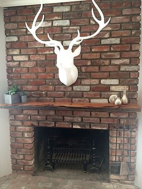 Custom Made Reclaimed Wood And Exotic Hardwood Mantel For Your Fireplace