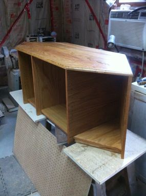 Custom Made White Oak Entertainment Center