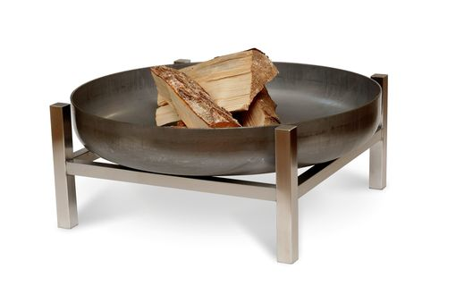 Custom Made Solid Steel Fire Pit Parnidis Short