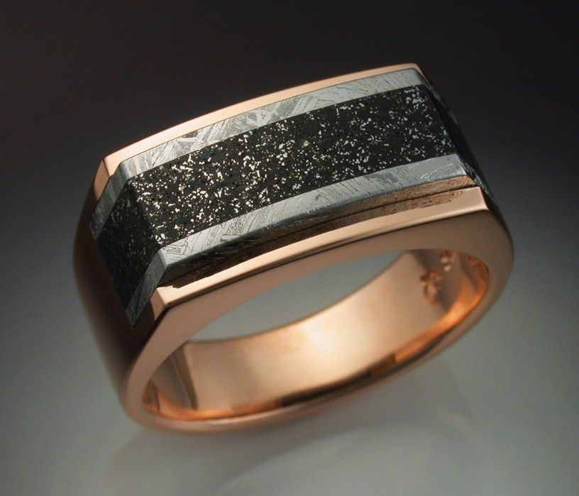 modern meteor for meteorite wedding ring from rings engagement young made