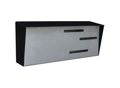 Custom Made Modern Mailbox | Mid Century Modern Mailbox | Authentic Black