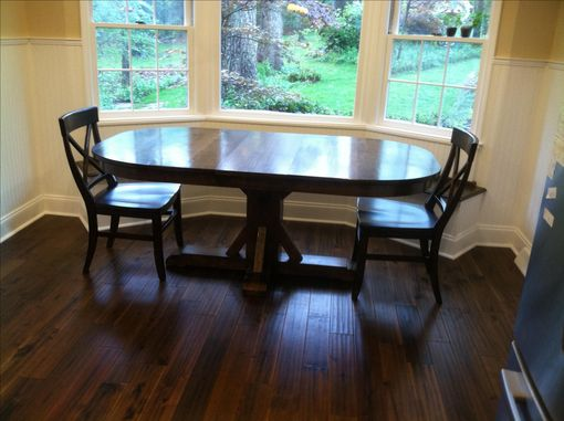 Custom Made Oval Dining Pedestal Table-Cherry