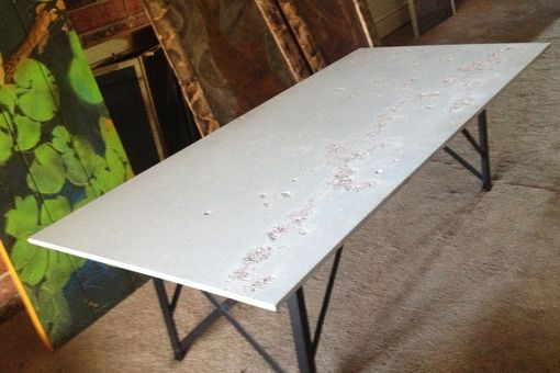 Custom Made Reclaimed Uhp Concrete Coffee Table