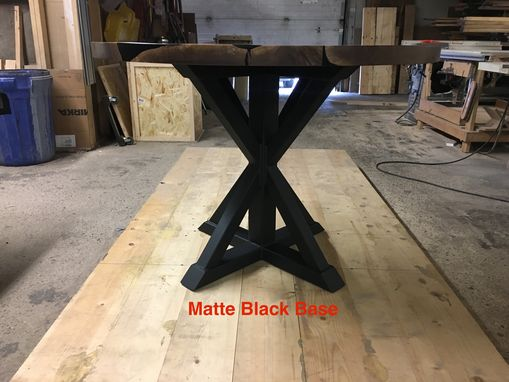 Custom Made Walnut & Resin Round Trestle