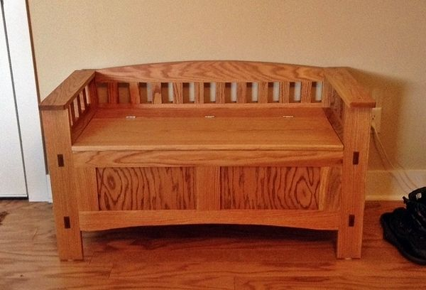 Custom Entry Storage Bench In Oak By Kinderling Wood