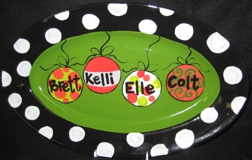 Custom Made Family Ornament Platter