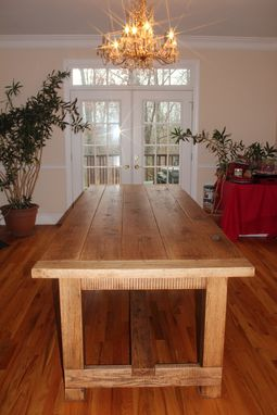 Custom Made 10ft Custom Oak Farm Table