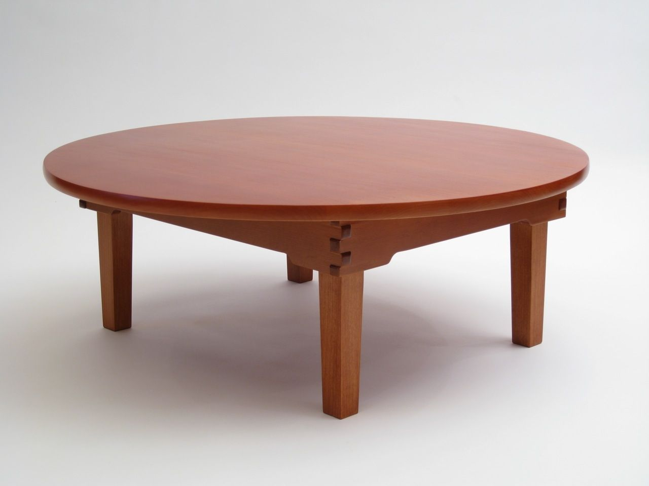 Custom made japanese chabudai a low folding table by for Low dining table