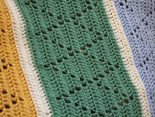 Custom Made Crochet Striped Baby Blanket