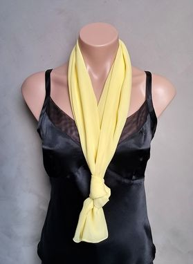 Custom Made Yellow Chiffon Scarf