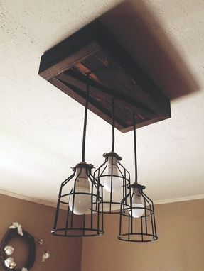 Custom Made Cage Lighting, Cage Chandelier, Rustic Lighting, Rustic Pendant Lighting