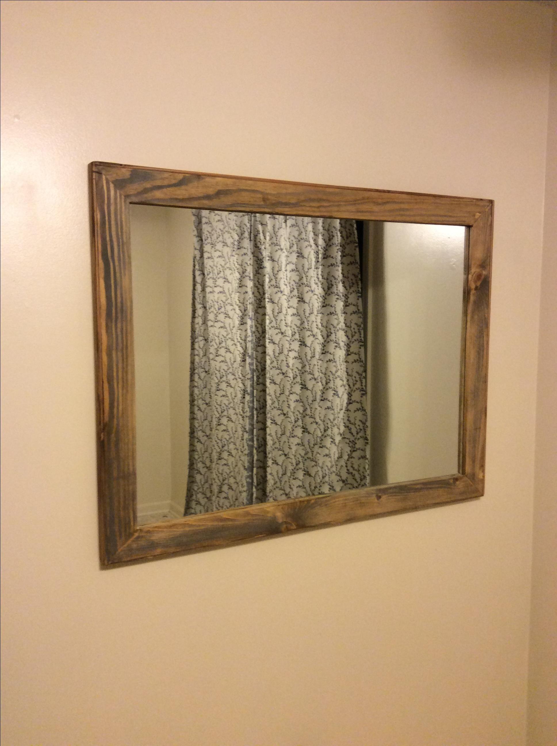 Custom Made Reclaimed Wood Vanity Mirror