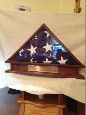 Custom Made Memorial Casket Flag Display