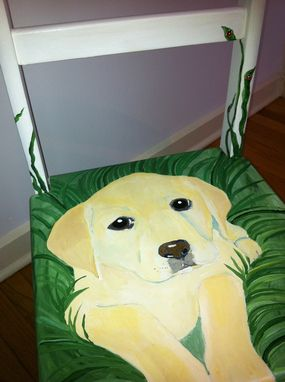 Custom Made Yellow Lab With Ladybugs