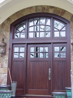 Custom Made Front Entry Door With Transom
