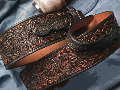 Buy A Handmade Hand Tooled Dog Collar Western Sheridan