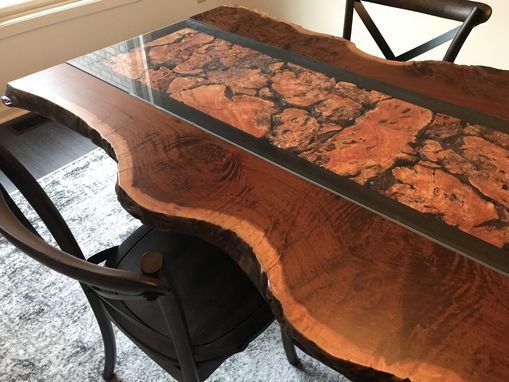 Custom Made Ipe Burl Table With Live Edge