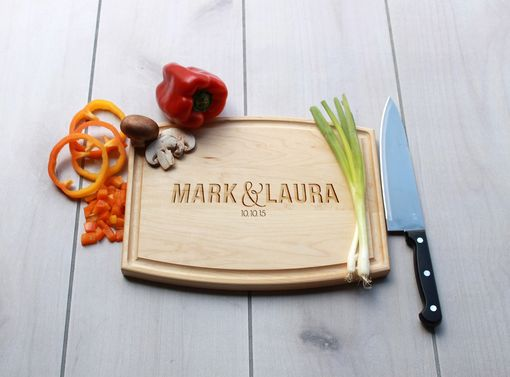Custom Made Personalized Cutting Board, Engraved Cutting Board, Custom Wedding Gift – Cba-Map-Marklaura