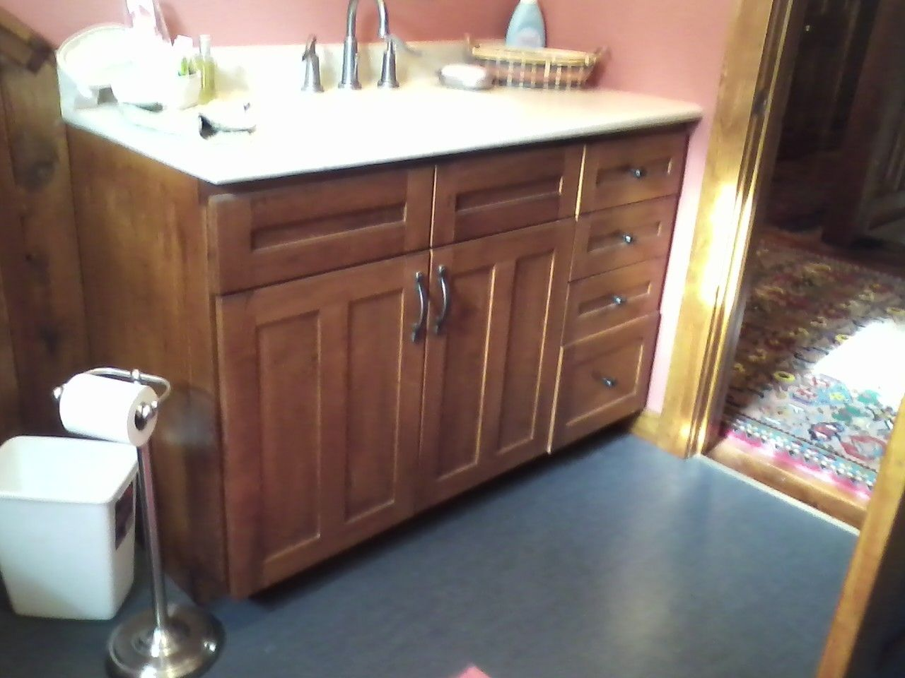 Hand Made Bathroom Vanity By Master Quality Construction