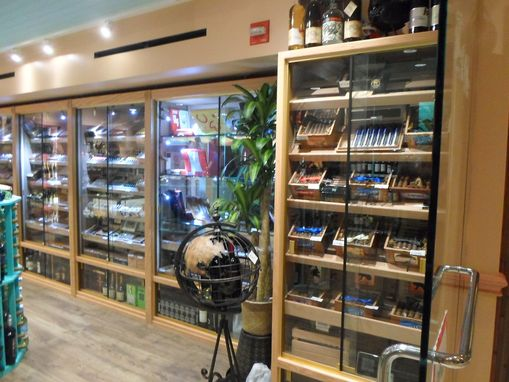 Custom Made Custom Humidors In Wine Shop