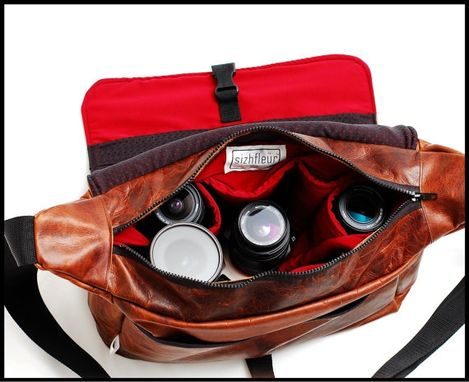 Custom Made Leather Camera Bag - Doctors Bag Carryall - Extra Large