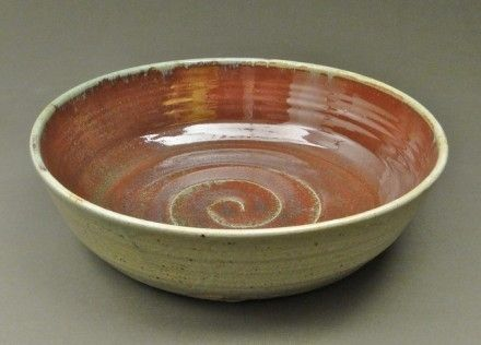 Custom Made Large Copper Red/Nuka Serving Bowl (Sku 114)