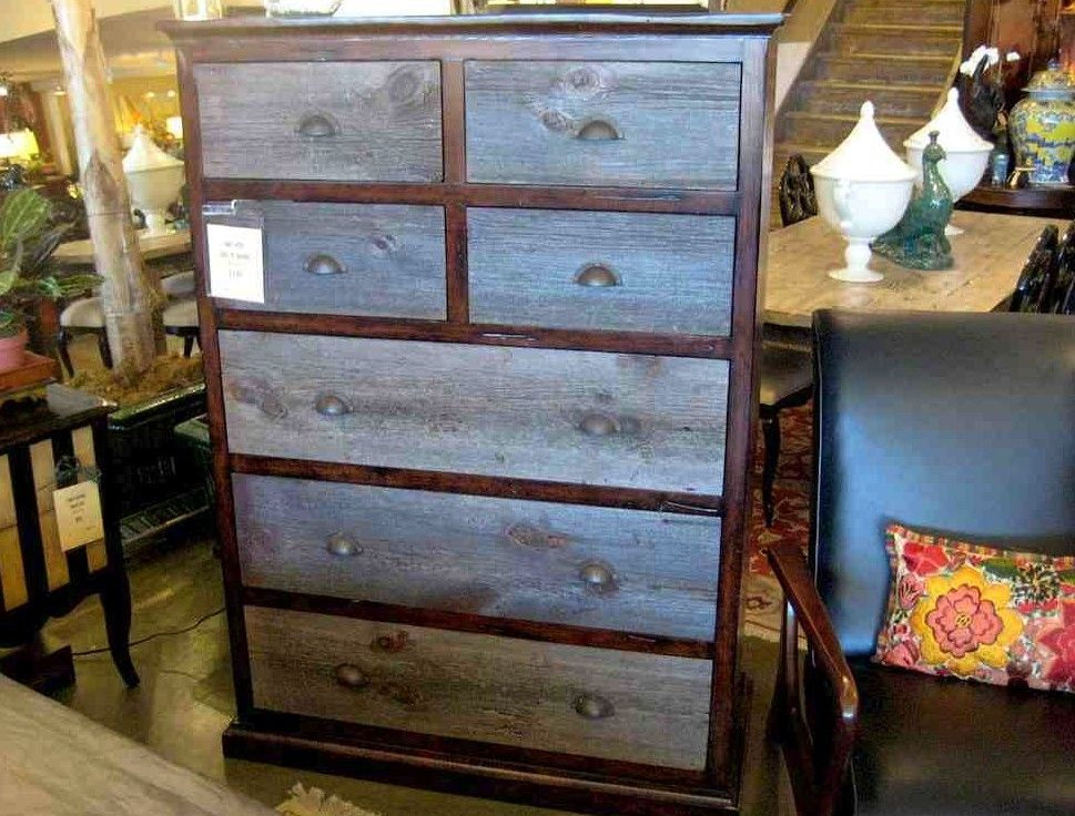 Hand Made Bayside Vintage Barn Wood Dresser By Mortise