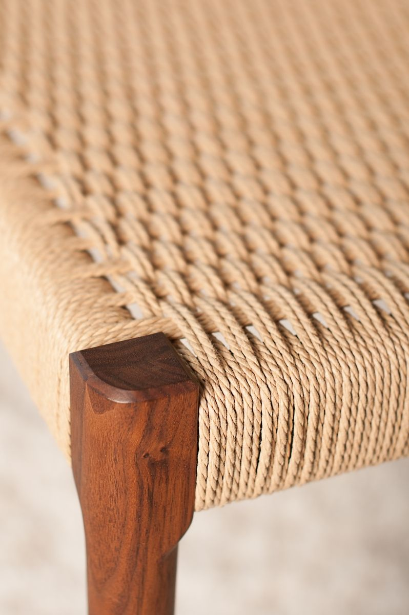 Hand Made Danish Cord Bench By Adam Sholl Furniture