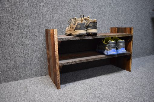 Custom Made Barn Wood Shoe Rack
